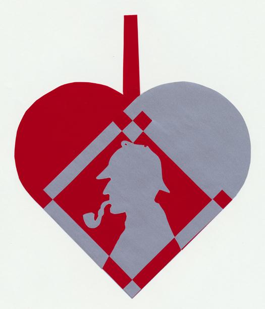 Flettet julehjerte med Sherlock Holmes