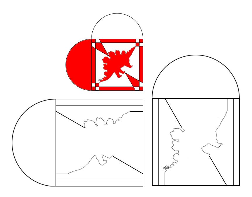 skabelon julehjerte med stegosaurus